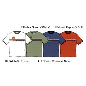 Columbia(コロンビア) ドリップウェイブTシャツ K's S 397(Ash Green×White)