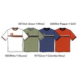 Columbia(コロンビア) ドリップウェイブTシャツ K's 5 397(Ash Green×White)