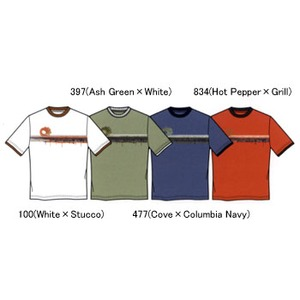 Columbia(コロンビア) ドリップウェイブTシャツ K's 7 397(Ash Green×White)