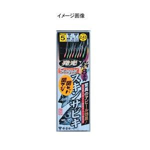 がまかつ(Gamakatsu) 船 発光スキンサビキ8本鈎(関アジ・関サバ仕様) 4号 白