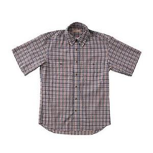 Fox Fire(フォックスファイヤー) QDSサッカーチェックシャツS/S M's M 046(ネイビー)