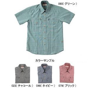 Fox Fire(フォックスファイヤー) スコーロンミニチェックシャツS/S M's S 046(ネイビー)