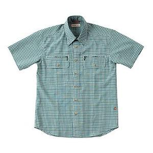 Fox Fire(フォックスファイヤー) スコーロンミニチェックシャツS/S M's S 060(グリーン)