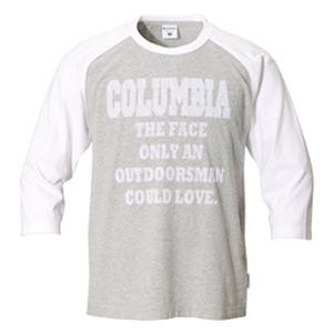 Columbia(コロンビア) アウトドアズマンラバー3/4Tシャツ S 072(Grey Heather)