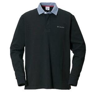 Columbia(コロンビア) オークヒルラグビーシャツ M 010(Black)