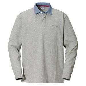 Columbia(コロンビア) オークヒルラグビーシャツ L 072(Grey Heather)