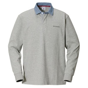 Columbia(コロンビア) オークヒルラグビーシャツ M 072(Grey Heather)