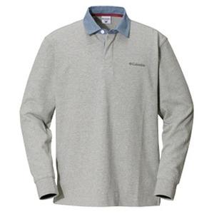 Columbia(コロンビア) オークヒルラグビーシャツ XS 072(Grey Heather)