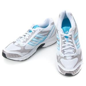 adidas(アディダス) デュラモ 2 W 25.5cm ランニングホワイト×ライトアクア×ティンF09