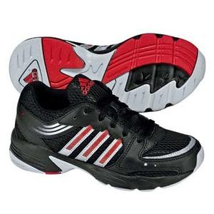adidas(アディダス) ハイパーラン 3 K 19.0cm ブラック×レッドS09×メタリックシルバー