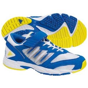 adidas(アディダス) スピードフット II EL Kid's 24.0cm ランニングホワイト×プール×レモンピール