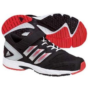 adidas(アディダス) スピードフット II EL Kid's 24.0cm ブラック×メタリックシルバー×カレッジレッド