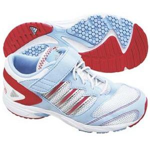 adidas(アディダス) スピードフット II EL Kid's 24.0cm ランニングW×メタリックS×マゼンタS09