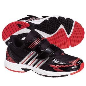 adidas(アディダス) スピードフット II Shiny CF Kid's 24.0cm ブラック×メタリックシルバー×レッドS09