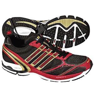 adidas(アディダス) アディゼロ Tempo2 23.5cm ブラック×メタリックゴールド×ピュアレッドF09