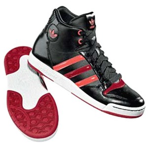 adidas(アディダス) MIDIRU COURT MID Women's 25.5cm ブラック×ライトレッド×ピュアレッドF09