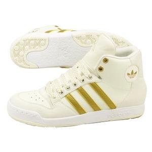 adidas(アディダス) MIDIRU COURT MID Women's 24.0cm レガシー×メタリックゴールド×ホワイト