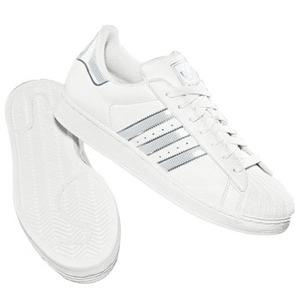 adidas(アディダス) SS II BLING 23.5cm ホワイト×ホワイト×メタリックシルバー