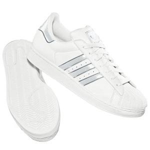 adidas(アディダス) SS II BLING 24.0cm ホワイト×ホワイト×メタリックシルバー