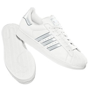 adidas(アディダス) SS II BLING 25.0cm ホワイト×ホワイト×メタリックシルバー