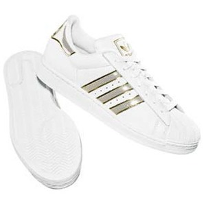 adidas(アディダス) SS II BLING 23.5cm ホワイト×ホワイト×メタリックゴールド