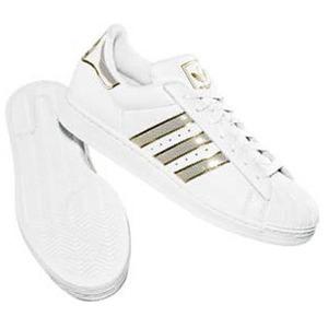 adidas(アディダス) SS II BLING 24.0cm ホワイト×ホワイト×メタリックゴールド