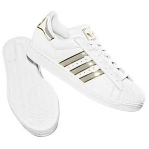 adidas(アディダス) SS II BLING 25.0cm ホワイト×ホワイト×メタリックゴールド