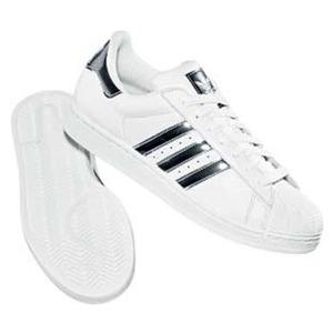 adidas(アディダス) SS II BLING 23.5cm ホワイト×ブラック×メタリックシルバー