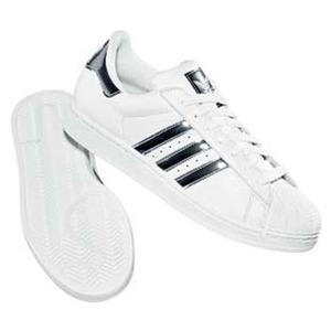 adidas(アディダス) SS II BLING 24.5cm ホワイト×ブラック×メタリックシルバー