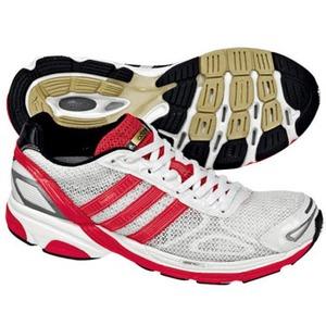adidas(アディダス) アディゼロ Boston Women's 26.0cm ランニングホワイト×アートレッドF09×ブラック