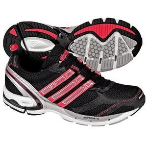 adidas(アディダス) アディゼロ Tempo2 Women's 25.5cm ブラック×アートレッドF09×メタリックシルバー