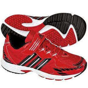 adidas(アディダス) スピードフット II Shiny EL Kid's 24.0cm カレッジレッド×メタリックシルバー×ブラック