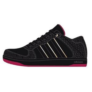 adidas(アディダス) Holcombe(ホルコム) 24.5cm ブラック×ピュアレッドF09×メタリックゴールド