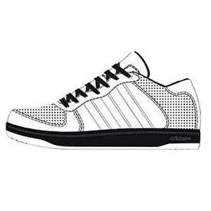 adidas(アディダス) Holcombe(ホルコム) 24.5cm ランニングホワイト×ランニングホワイト×ブラック