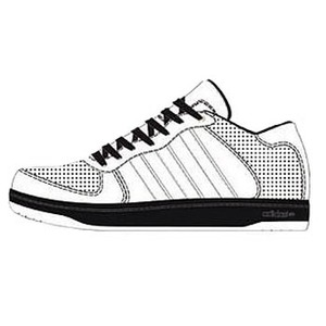 adidas(アディダス) Holcombe(ホルコム) 25.0cm ランニングホワイト×ランニングホワイト×ブラック