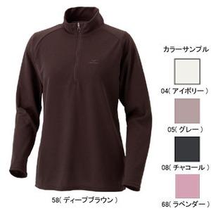 ミズノ(MIZUNO) ブレスサーモ・サーマルライト長袖ジップネックシャツ Women's M 68(ラベンダー)