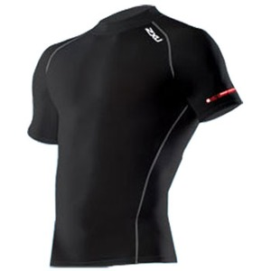 2XU(ツー・タイムズ・ユー) Compression S/S Top Men's L Black×Black