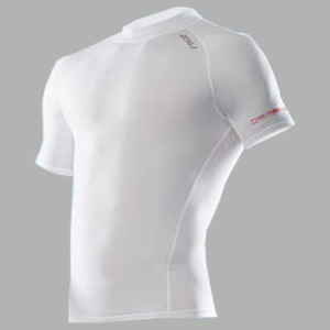 2XU(ツー・タイムズ・ユー) Compression S/S Top Men's XL White×White