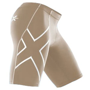 2XU(ツー・タイムズ・ユー) Compression Short Men's XS Beige×Beige