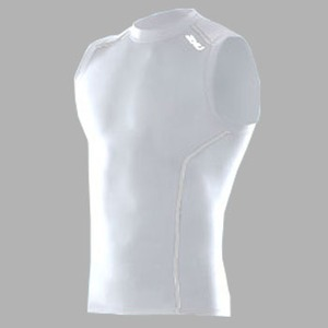2XU(ツー・タイムズ・ユー) Compression Sleeveless Top Men's M White×White