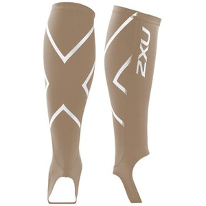 2XU(ツー・タイムズ・ユー) Compression Calf Guard W/Stirrups XL Beige×Beige