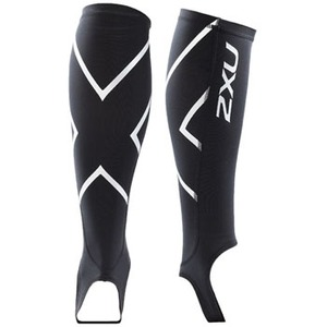 2XU(ツー・タイムズ・ユー) Compression Calf Guard W/Stirrups XL Black×Black