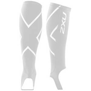 2XU(ツー・タイムズ・ユー) Compression Calf Guard W/Stirrups XL White×White
