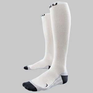 2XU(ツー・タイムズ・ユー) Compression Race Sock XL White×Grey