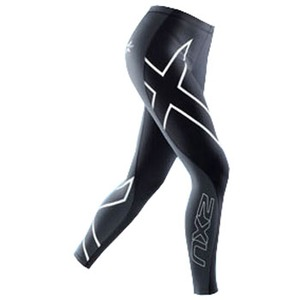 2XU(ツー・タイムズ・ユー) Elite Compression Tights Women's XXL Black×Steel