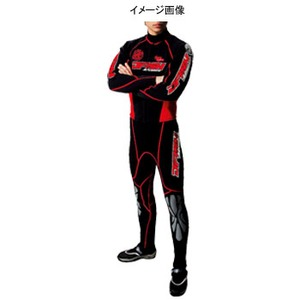 J-FISH アドバンスウェットスーツ Men's MLB BLACK×RED