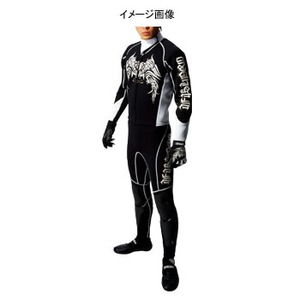 J-FISH プロウェットスーツ Men's M BLACK×WHITE