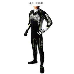 J-FISH プロウェットスーツ Men's L BLACK×GREEN