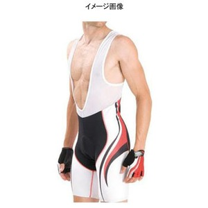 Biemme(ビエンメ) Carboion Shape Bibshorts Men's XL White×Red