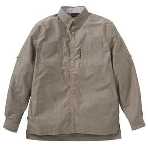 FJALL RAVEN(フェールラーベン) バンブーロングシャツ M 40(ブラウン)